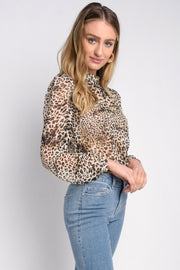 Leopard Mock Top
