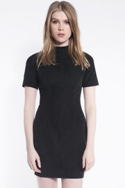 Suede Form Dress Black