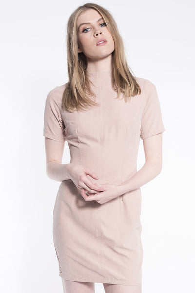 Suede Form Dress