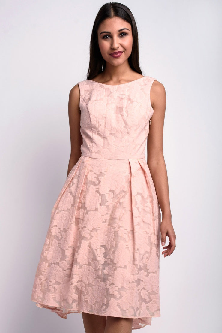 Blush Lace Detail Prom