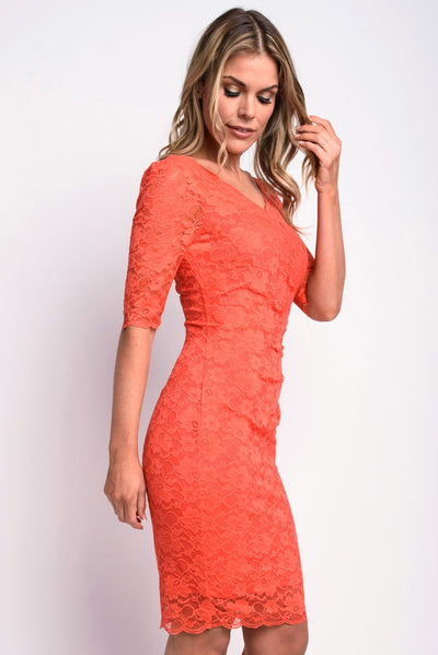 Lace Stretch Midi