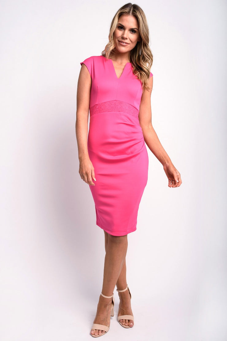 Hot Pink Stretch Midi