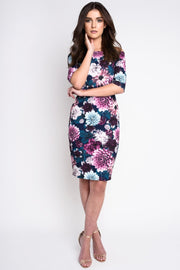 DARK FLORAL BARDOT DRESS -8