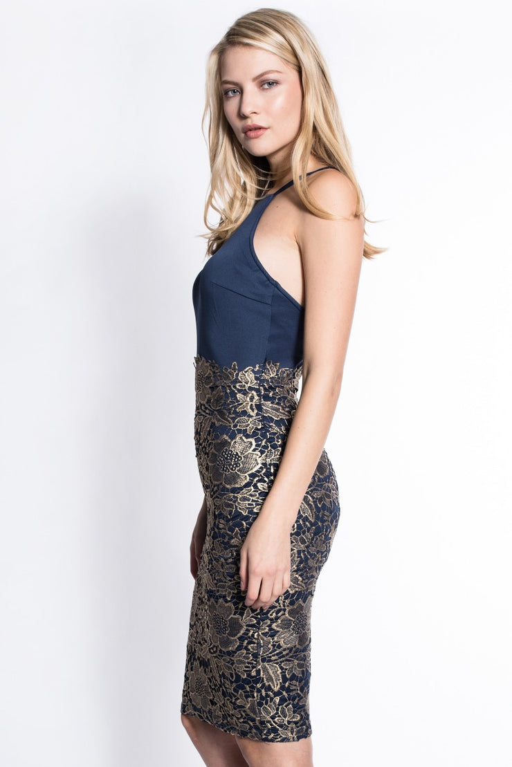 Gold Lace Bodycon