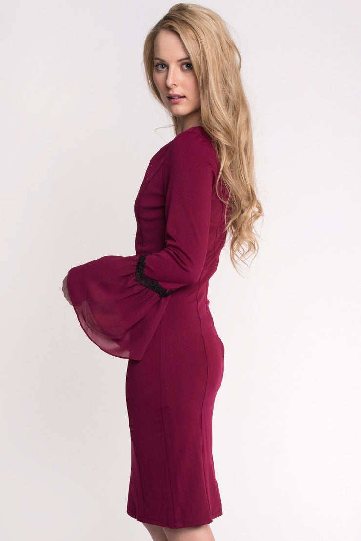 Wine Bodycon Dress