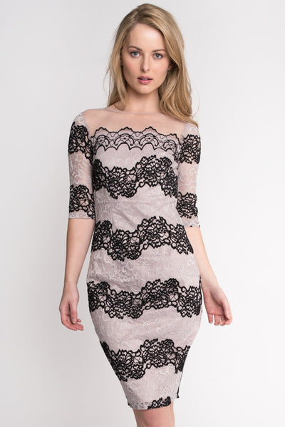 Striped Lace Dress