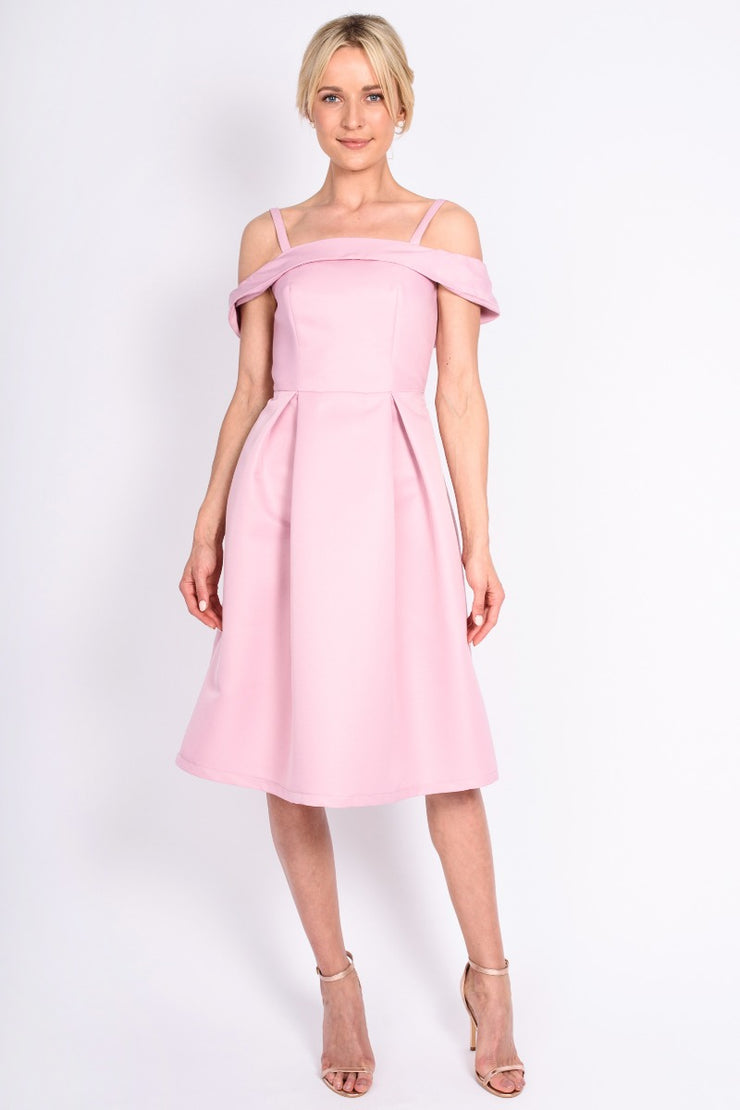 Pink Chi Chi Pattie Bardot Dress