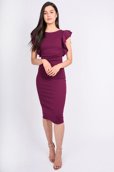 Plum Ruffle Dress