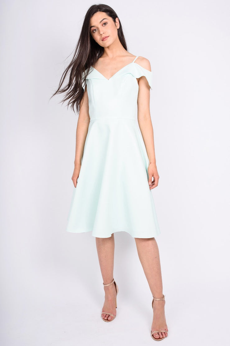 Mint Chi Chi Saydie Bardot Dress