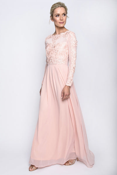 Blush Lace Detail Gown