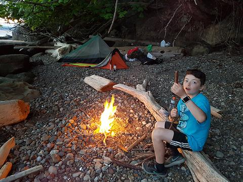 Campfire with kids