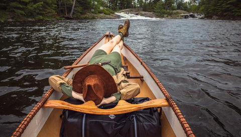 Waterproof Duffel in Canoe