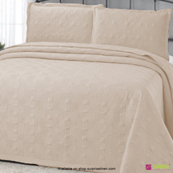 Surprise Home - Elegance 3 Pcs Quilted Bed Cover Set (Cream)