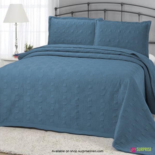 Surprise Home - Elegance 3 Pcs Quilted Bed Cover Set (Teal)