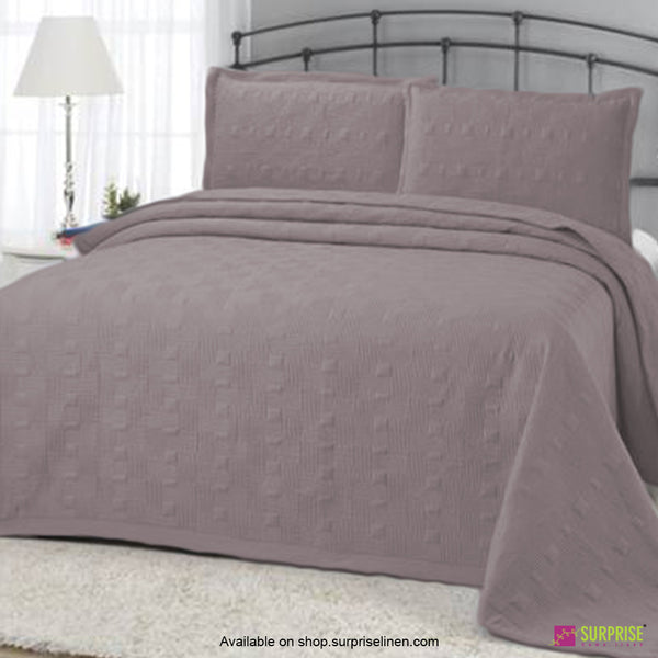 Surprise Home - Elegance 3 Pcs Quilted Bed Cover Set (Stone Grey)