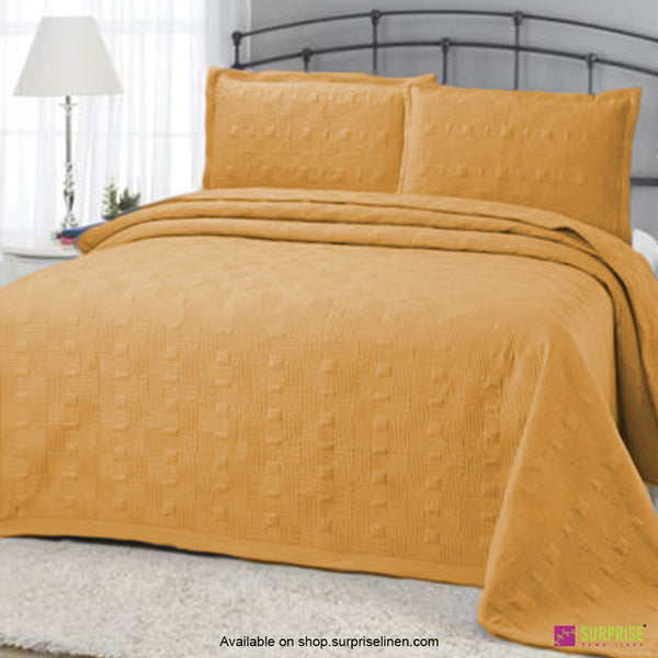 Surprise Home - Elegance 3 Pcs Quilted Bed Cover Set (Mustard)