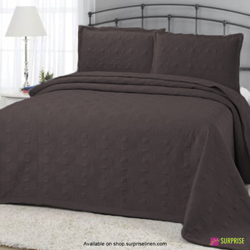 Surprise Home - Elegance 3 Pcs Quilted Bed Cover Set (Grey)