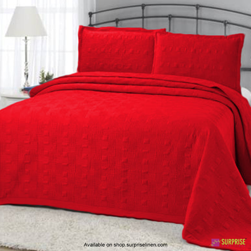 Surprise Home - Elegance 3 Pcs Quilted Bed Cover Set (Red)