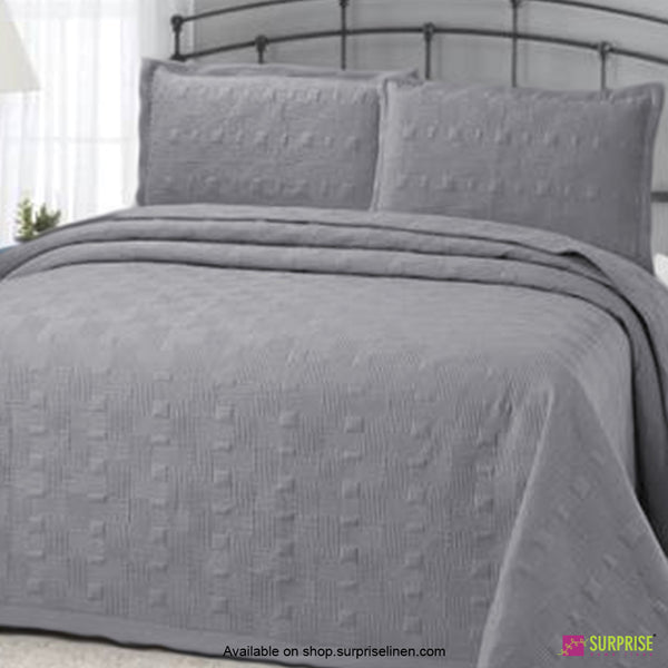 Surprise Home - Elegance 3 Pcs Quilted Bed Cover Set (Light Grey)
