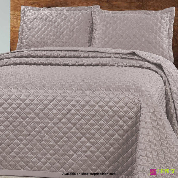 Surprise Home - Luxe 3 Pcs Quilted Bed Cover Set (Fossil Grey)