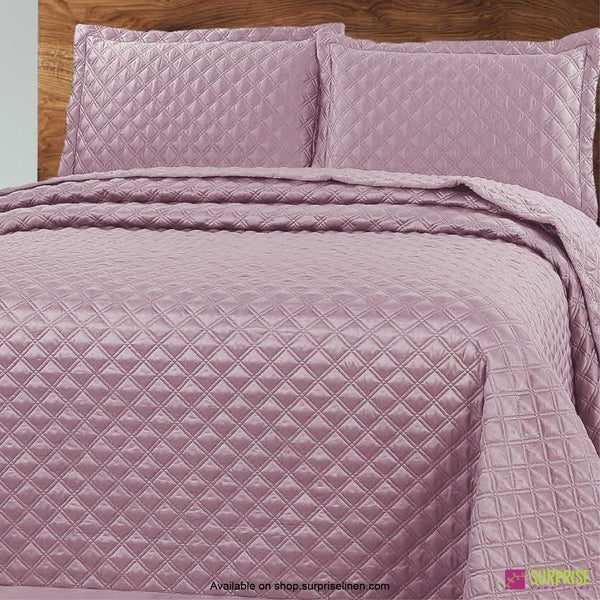 Surprise Home - Luxe 3 Pcs Quilted Bed Cover Set (Pink)