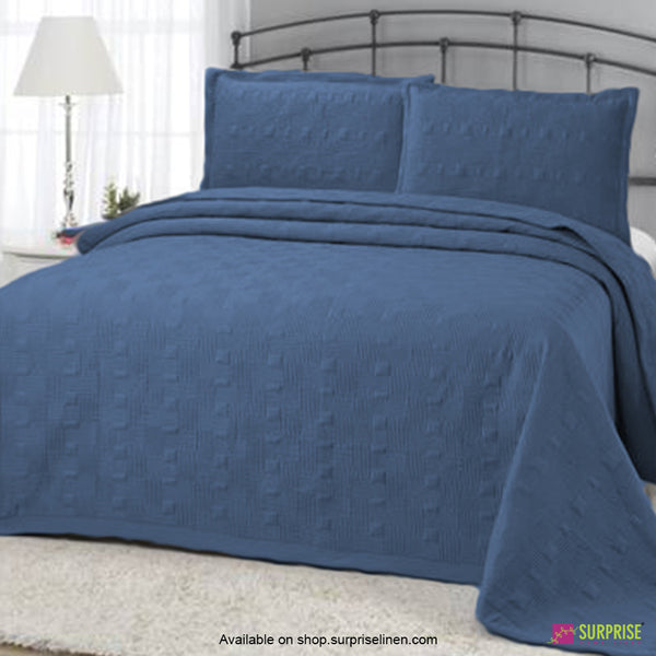 Surprise Home - Elegance 3 Pcs Quilted Bed Cover Set (Blue)