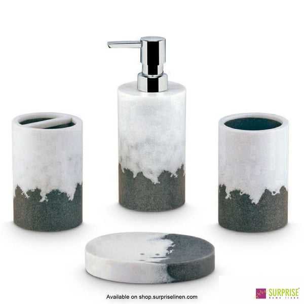 Surprise Home - Grey 4 Pcs Bath Set