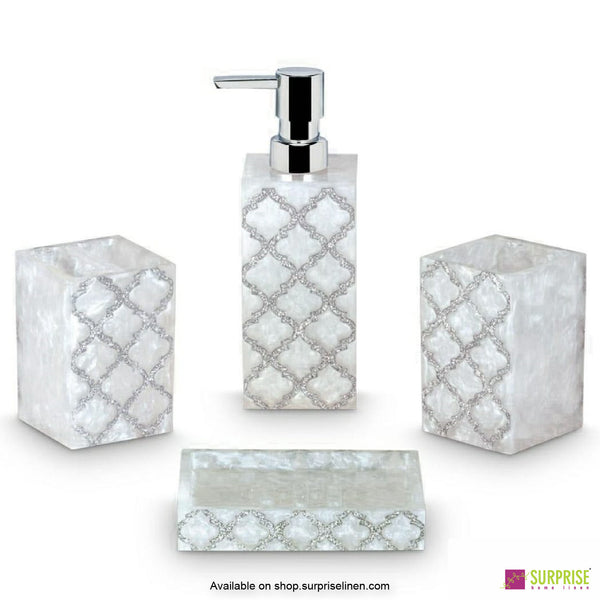 Surprise Home - Crystal White 4 Pcs Bath Set