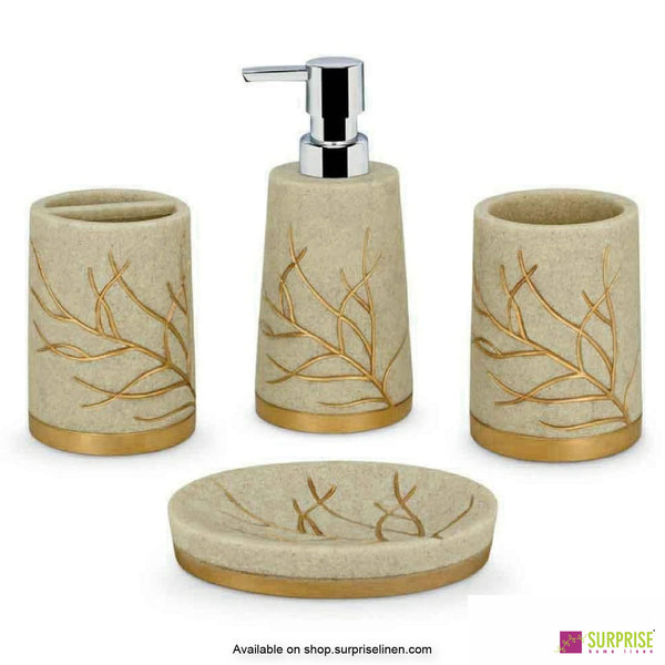 Surprise Home - Sand Gold 4 Pcs Bath Set