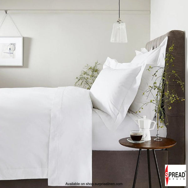 Spread Home - 800 Thread Count Cotton White Bedding Collection Bedsheet Set