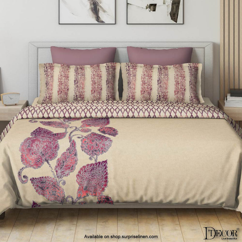 D'Decor- Esteem Collection Eternal Rococco Red Bed Sheet Set