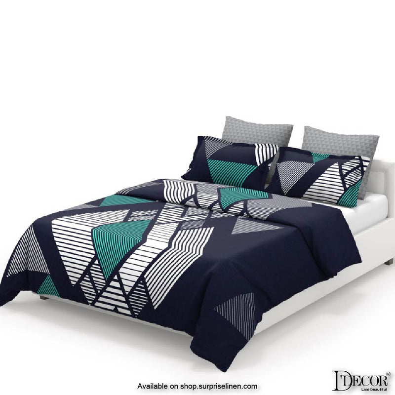 D'Decor- Techno Collection Rhombus Black Bed Sheet Set