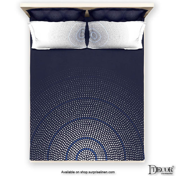D'Decor- Techno Collection Vector Black Bed Sheet Set