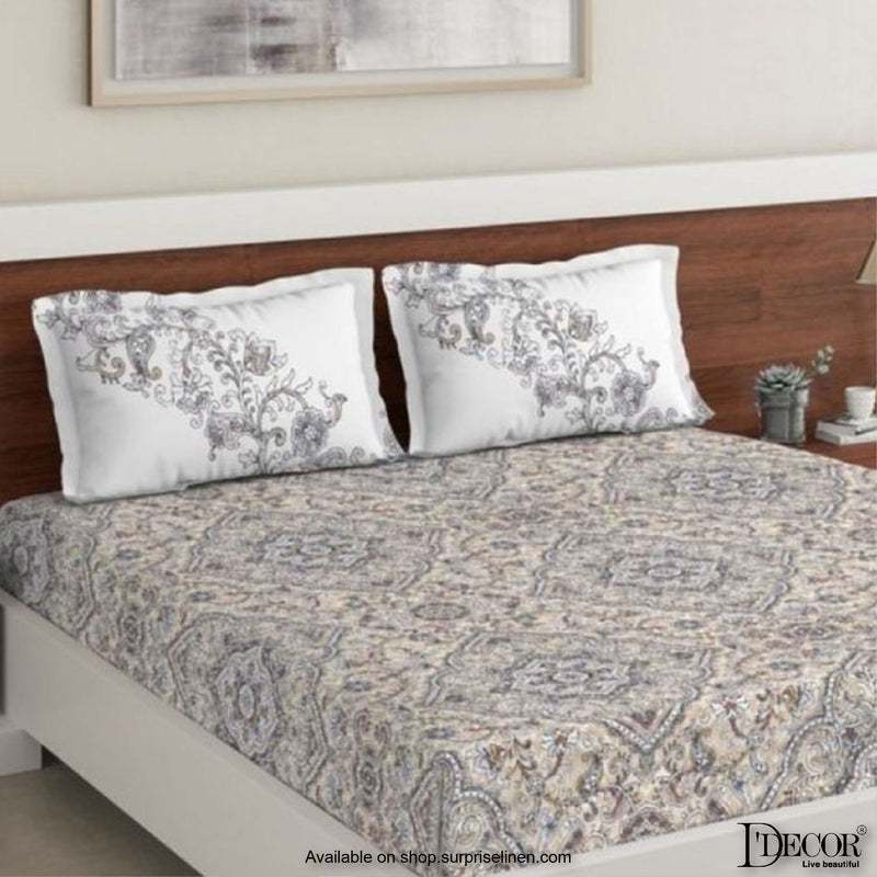 D'Decor- Primary Collection Frost Gray Bed Sheet Set
