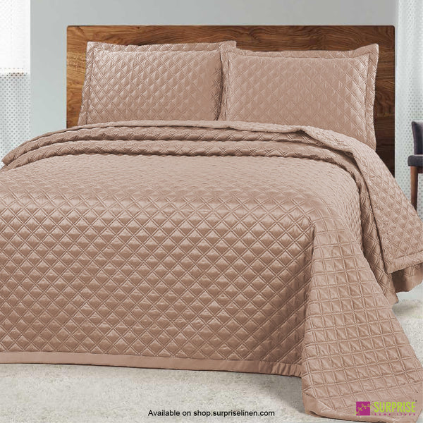 Surprise Home - Luxe 3 Pcs Quilted Bed Cover Set (Light Copper)