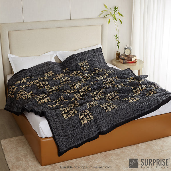 Surprise Home - Ethnic Rajai (Charcoal)