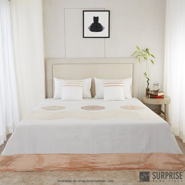 Surprise Home - Silk Mandala 5 Pcs Bed Cover Set (White)