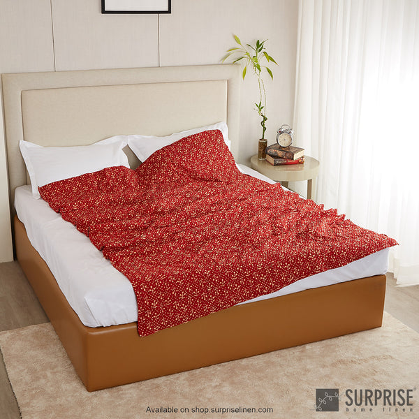 Surprise Home - Ethnic Rajai (Dark Red)