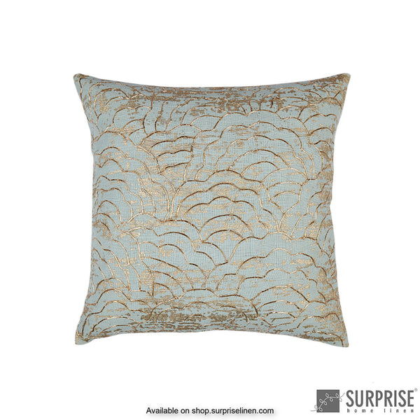 Surprise Home - Gold Bloom Cushion Cover (Sage Green)