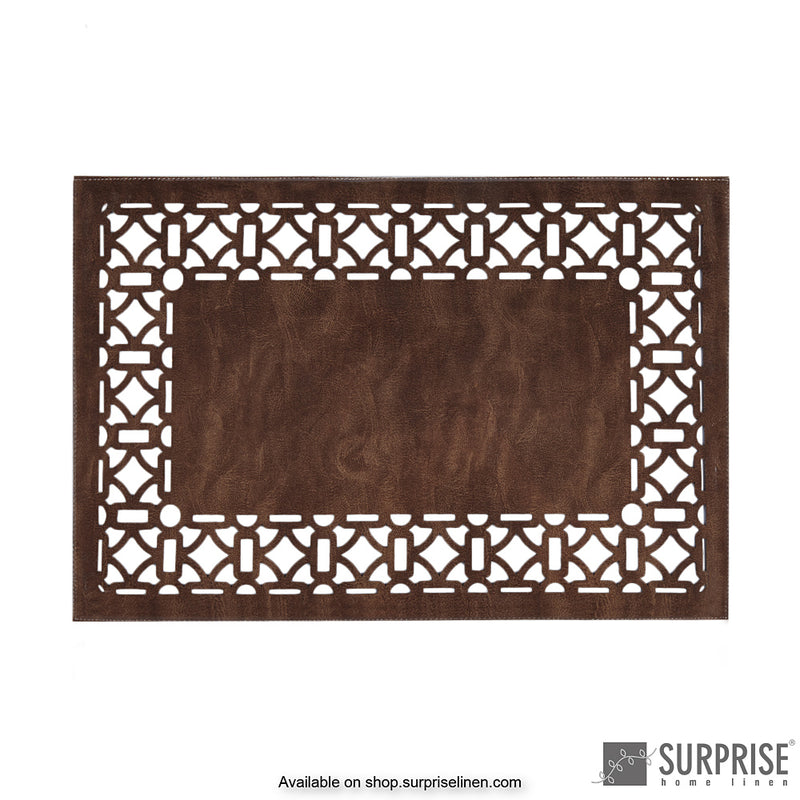 Surprise Home - Laminated Table Mats (Dark Brown)