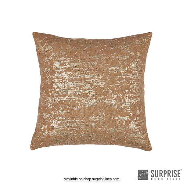 Surprise Home - Gold Bloom Cushion Cover (Brown)
