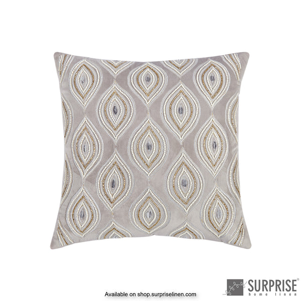 Surprise Home - Pearl Eye Cushion Cover (Grey)