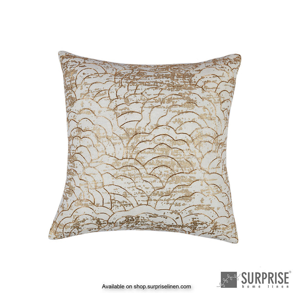 Surprise Home - Gold Bloom Cushion Cover (Off White)
