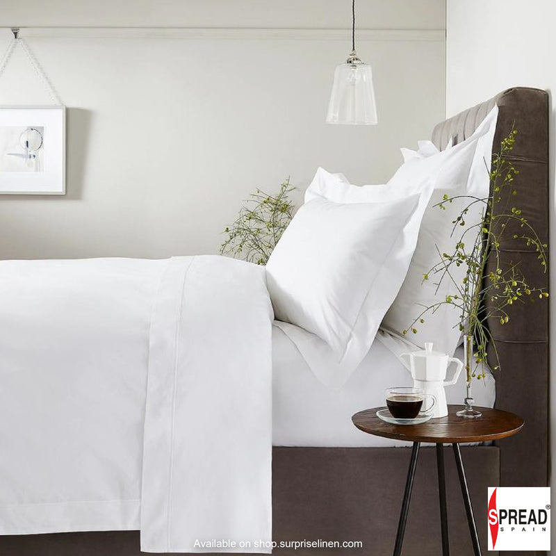 Spread Home - 650 Thread Count Bedding Collection White Cotton Bedsheet Set