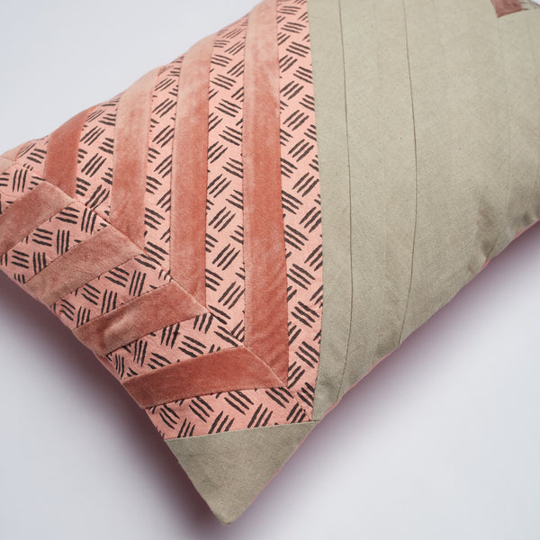 Surprise Home - Modern Stripes 30 x 45 cms Cushion Covers (Salmon)