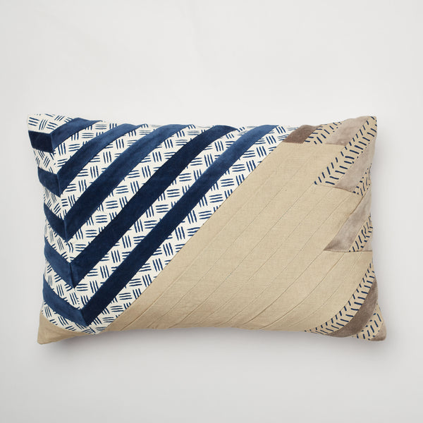 Surprise Home - Modern Stripes 30 x 45 cms Cushion Covers (Indigo)