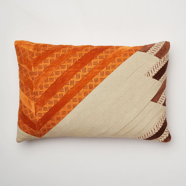Surprise Home - Modern Stripes 30 x 45 cms Cushion Covers (Rust)