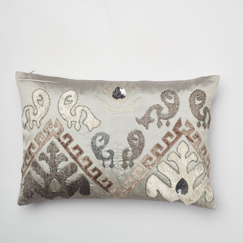 Surprise Home - Patola Cushion Covers (Grey)