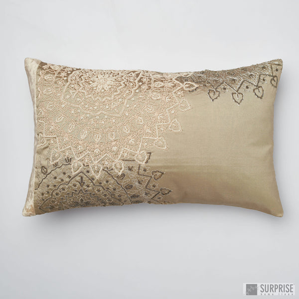 Surprise Home - Beaded Mandalas Cushion Covers (Brown)