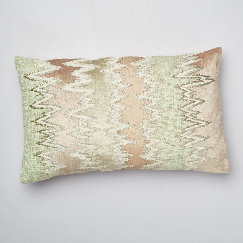 Surprise Home - Ikat Patch Cushion Covers (Light Beige)
